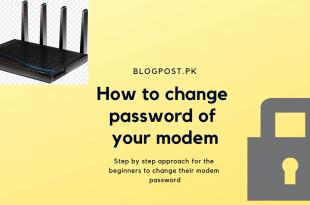 how to change modem password
