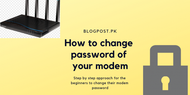 how to change modem password