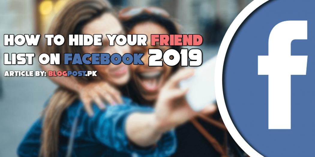 hide friend list on facebook