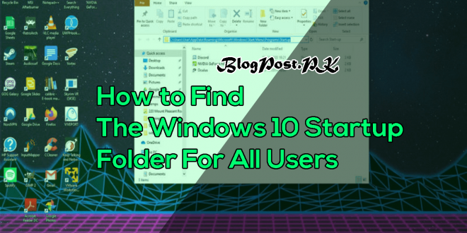 How to Find the Windows 10 Startup Folder for All Users-min